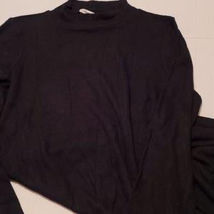 American Eagle Soft Plush Lng Sleeve Dress Black S